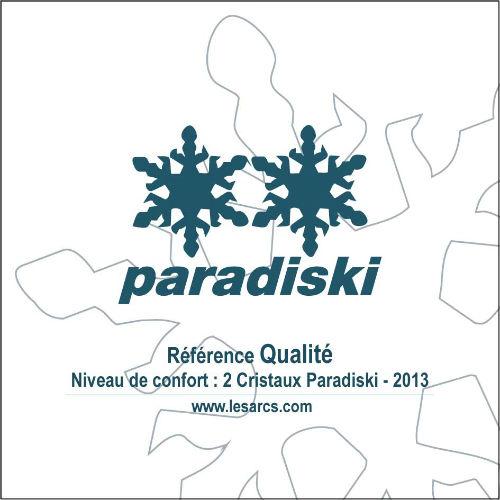 2 CRISTAUX PARADISKI Classement de la qualité de l`appartement Studio