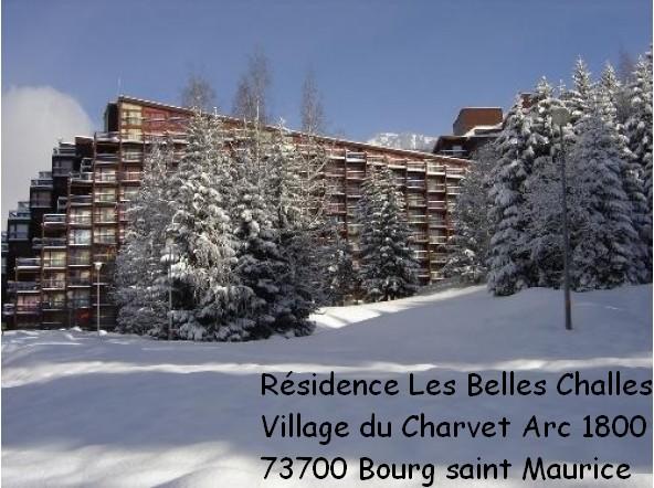photo résidence belles challes arc 1800 savoie montagne neige studio ski au pied