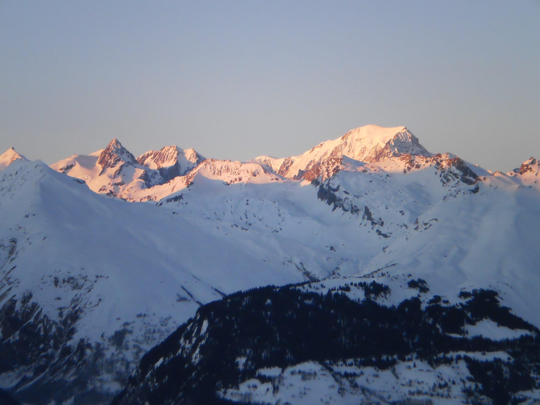 Vu du Mont Blanc depuis Appartement